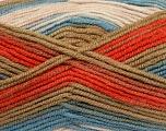 Fiber Content 75% Acrylic, 25% Wool, White, Khaki, Brand ICE, Copper, Blue, Yarn Thickness 4 Medium  Worsted, Afghan, Aran, fnt2-41153