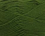 Fiber Content 80% Acrylic, 20% Wool, Brand ICE, Dark Green, Yarn Thickness 4 Medium  Worsted, Afghan, Aran, fnt2-41253