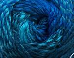 Composition 100% Acrylique haut de gamme, Turquoise, Navy, Brand ICE, Blue, fnt2-42160