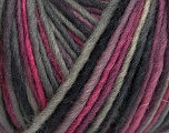 The yarn is hand-dyed. Dyeing process is totally hand made with natural plants and NO chemicals were used. For this reason, please be advised that some white parts may remain. Composition 100% Laine, Pink, Lilac, Brand ICE, Grey Shades, fnt2-42183
