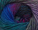Composition 70% Dralon, 30% Laine, Teal, Purple, Lilac, Brand Ice Yarns, Grey, Blue, Yarn Thickness 4 Medium  Worsted, Afghan, Aran, fnt2-42708