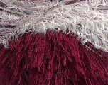 Composition 100% Polyester, White, Brand Ice Yarns, Burgundy, fnt2-43566