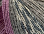 Composition 100% Laine mérinos, White, Maroon, Lilac, Brand Ice Yarns, Grey, Yarn Thickness 4 Medium  Worsted, Afghan, Aran, fnt2-43626