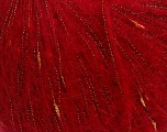 Composition 31% Acrylique, 30% Polyamide, 24% Mohair, 15% Métallique Lurex, Red, Brand Ice Yarns, fnt2-43911