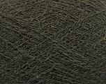 Composition 50% Polyamide, 40% Baby Alpaga, 10% Laine mérinos, Brand Ice Yarns, Dark Khaki, fnt2-44569