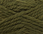 Composition 50% Laine, 50% Dralon, Khaki, Brand Ice Yarns, fnt2-44610