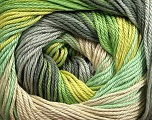 Composition 100% Coton mercerisé, Brand Ice Yarns, Grey Shades, Green Shades, Beige, fnt2-44692