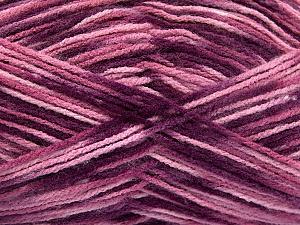 Fiber Content 100% Acrylic, Purple, Pink Shades, Brand ICE, fnt2-51200