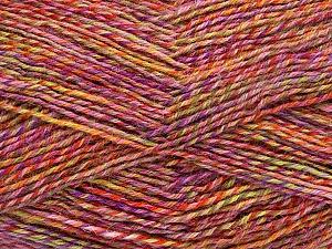 Fiber Content 75% Superwash Wool, 25% Polyamide, Rose Pink, Lilac, Brand ICE, Green, fnt2-51252