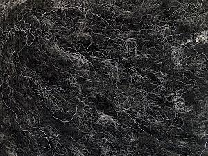 Fiber Content 40% Acrylic, 20% Mohair, 20% Wool, 20% Polyamide, Brand ICE, Black Melange, fnt2-52137