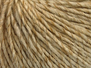 Fiber Content 50% Acrylic, 50% Wool, Brand ICE, Cream melange, Yarn Thickness 4 Medium  Worsted, Afghan, Aran, fnt2-53616