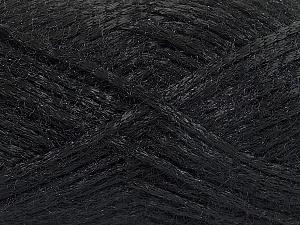 Fiber Content 70% Polyamide, 30% Mohair, Brand ICE, Black, fnt2-54282