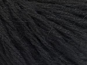 Fiber Content 50% Wool, 50% Acrylic, Brand ICE, Black, fnt2-55343