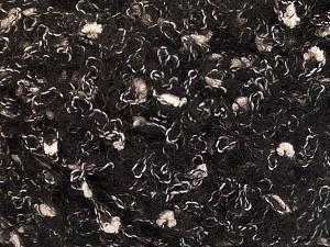 Fiber Content 26% Polyamide, 22% Acrylic, 18% Viscose, 17% Alpaca, 17% Wool, White, Brand ICE, Black, fnt2-55805