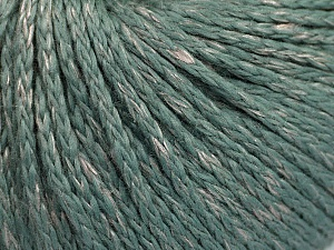 Fiber Content 72% Mako Cotton, 18% Silk, 10% Polyamide, Sea Green, Brand ICE, fnt2-56668