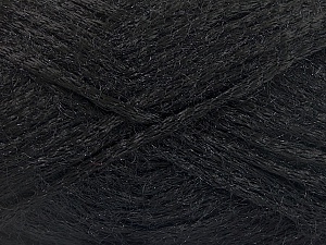Fiber Content 80% Polyamide, 20% Mohair, Brand ICE, Black, fnt2-56669