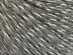 Fiber Content 50% Wool, 50% Acrylic, White, Brand ICE, Grey, fnt2-56830