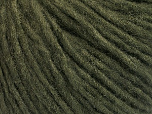 Fiber Content 50% Wool, 50% Acrylic, Brand ICE, Dark Green, Yarn Thickness 4 Medium  Worsted, Afghan, Aran, fnt2-57005