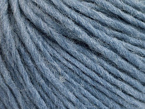 Fiber Content 50% Wool, 50% Acrylic, Light Blue Melange, Brand ICE, Yarn Thickness 4 Medium  Worsted, Afghan, Aran, fnt2-57011