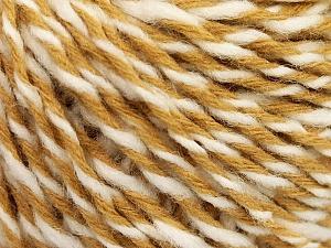 Fiber Content 70% Acrylic, 30% Wool, White, Light Brown, Brand ICE, fnt2-57530