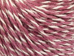 Fiber Content 70% Acrylic, 30% Wool, White, Rose Pink, Brand ICE, fnt2-57531