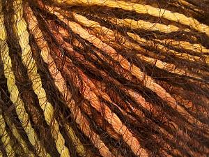 Composition 60% Polyamide, 20% Coton, 20% Acrylique, Orange, Brand ICE, Green, Gold, Brown, fnt2-57963
