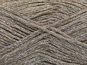 Composition 50% Coton, 30% Acrylique, 20% Métallique Lurex, Silver, Brand ICE, Camel, fnt2-58011