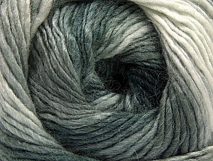Composition 70% Acrylique, 30% Laine, Brand ICE, Grey Shades, Yarn Thickness 3 Light  DK, Light, Worsted, fnt2-58140