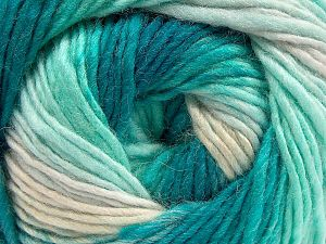 Composition 70% Acrylique, 30% Laine, Turquoise Shades, Brand ICE, Yarn Thickness 3 Light  DK, Light, Worsted, fnt2-58141