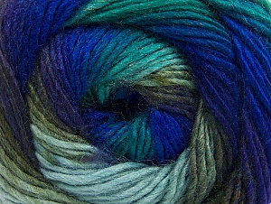 Composition 70% Acrylique, 30% Laine, Turquoise, Purple, Khaki, Brand ICE, Blue, Yarn Thickness 3 Light  DK, Light, Worsted, fnt2-58142