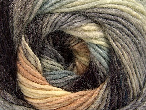 Composition 70% Acrylique, 30% Laine, Brand ICE, Grey Shades, Cream, Brown, Yarn Thickness 3 Light  DK, Light, Worsted, fnt2-58144
