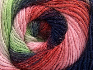 Composition 70% Acrylique, 30% Laine, Red, Purple, Pink Shades, Brand ICE, Green Shades, Yarn Thickness 3 Light  DK, Light, Worsted, fnt2-58145