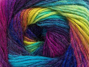 Composition 70% Acrylique, 30% Laine, Vivid Colors, Brand ICE, Yarn Thickness 3 Light  DK, Light, Worsted, fnt2-58147