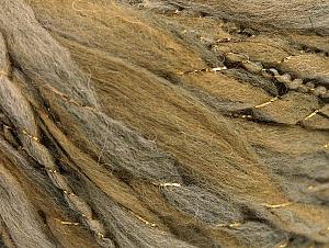 Composition 40% Laine, 40% Acrylique, 2% Métallique Lurex, 18% Polyamide, Brand ICE, Grey, Gold, Camel, fnt2-58311