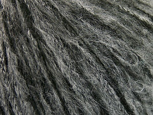 Composition 40% Polyamide, 30% Mohair, 30% Acrylique, Brand ICE, Grey, Black, fnt2-58351