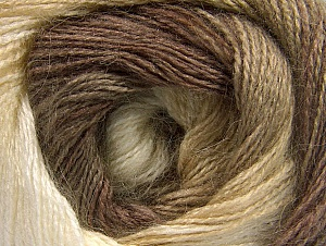 Composition 50% Acrylique, 50% Mohair, Brand ICE, Camel, Brown Shades, Beige, fnt2-58356