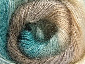 Composition 50% Mohair, 50% Acrylique, Turquoise, Brand ICE, Cream, Camel, fnt2-58359