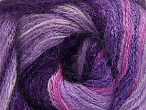 Composition 50% Acrylique, 50% Mohair, Purple, Pink, Lilac, Brand ICE, fnt2-58363