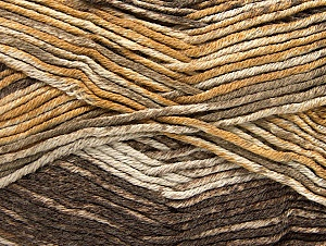 Composition 50% Acrylique haut de gamme, 50% Coton, Brand ICE, Brown Shades, Yarn Thickness 2 Fine  Sport, Baby, fnt2-58410
