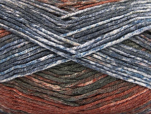Composition 50% Acrylique haut de gamme, 50% Coton, Brand ICE, Grey Shades, Brown Shades, Yarn Thickness 2 Fine  Sport, Baby, fnt2-58411