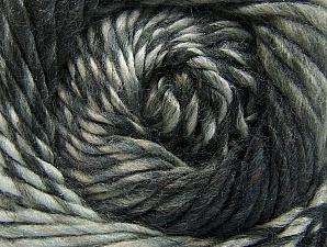 Composition 70% Laine, 30% Acrylique, Brand ICE, Grey Shades, Yarn Thickness 5 Bulky  Chunky, Craft, Rug, fnt2-58435