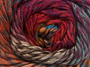 Composition 70% Laine, 30% Acrylique, Red, Purple, Brand ICE, Copper, Brown Shades, Blue, Yarn Thickness 5 Bulky  Chunky, Craft, Rug, fnt2-58439