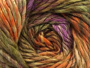 Composition 70% Laine, 30% Acrylique, Orange, Lilac, Khaki, Brand ICE, Camel, Yarn Thickness 5 Bulky  Chunky, Craft, Rug, fnt2-58441