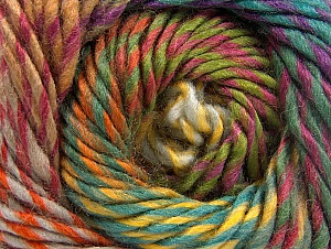 Composition 70% Laine, 30% Acrylique, Teal, Orange, Brand ICE, Grey, Green, Gold, Yarn Thickness 5 Bulky  Chunky, Craft, Rug, fnt2-58442