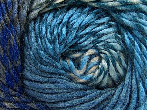 Composition 70% Laine, 30% Acrylique, Turquoise, Brand ICE, Blue Shades, Anthracite Black, Yarn Thickness 5 Bulky  Chunky, Craft, Rug, fnt2-58444
