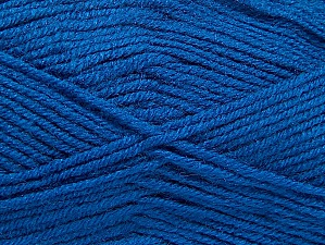 Composition 50% Laine, 50% Acrylique, Brand ICE, Blue, Yarn Thickness 4 Medium  Worsted, Afghan, Aran, fnt2-58692