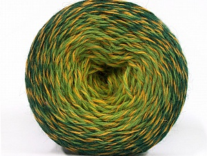 Composition 75% Superwash Wool, 25% Polyamide, Brand ICE, Green Shades, Gold, fnt2-59068