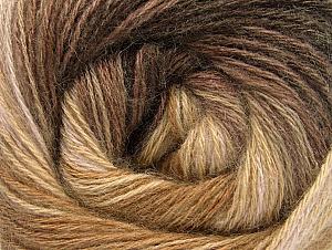 Composition 60% Acrylique, 20% Angora, 20% Laine, Brand ICE, Camel, Brown Shades, fnt2-59748