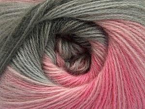 Composition 60% Acrylique, 20% Laine, 20% Angora, Pink Shades, Brand ICE, Grey Shades, fnt2-59752