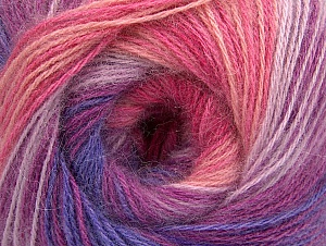 Composition 60% Acrylique, 20% Angora, 20% Laine, Yellow, White, Purple, Pink Shades, Lilac Shades, Brand ICE, fnt2-59753
